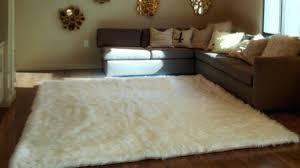 faux sheepskin rug home interior love large faux sheepskin rug 8 x white gy fur rectangle