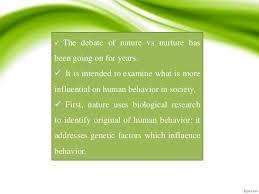 nature vs nurture essay nature vs nurture quotes like success how to write a nature vs nurture essay