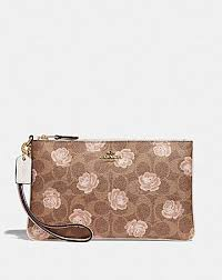 SMALL WRISTLET IN SIGNATURE ROSE PRINT ...