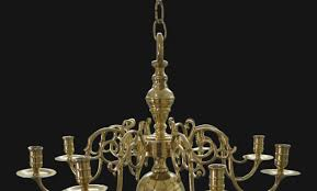 colonial williamsburg style heavy solid brass chandelier for candles