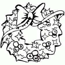 Christmas Wreath Coloring Pages Free At Page Ahmedmagdy Me Inside 5