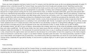 the truman show written assessment at com essay on the truman show written assessment