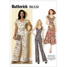 Jumpsuit Pattern Magnificent Misses SweetheartNeckline Dress And Jumpsuits Butterick Sewing