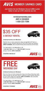 Car Rental Coupon Codes Avis