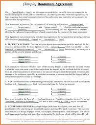 Roommate Sample Rental Agreement Lease Form Free – Pitikih