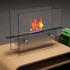 vent free ethanol fireplace in stainless steel