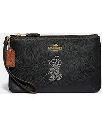 COACH - Boxed Minnie Mouse Small Wristlet With Motif - Lyst