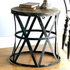 rustic metal coffee table and end tables inexpensive attractive best modern side wood met