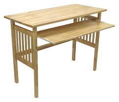 folding computer desk with natural wood finish wooden office chair plans