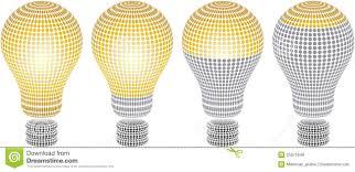 Light Bulb Levels Light Bulb Level Stock Vector Illustration Of