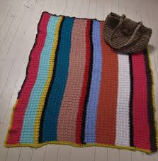 hover to zoom rug hand crochet candy colour stripes handmade throw lap travel picnic afghan