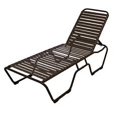 chaise lounge chair outdoor. Marco Island Dark Cafe Brown Commercial Grade Aluminum Vinyl Strap Outdoor Chaise Lounge Chair R