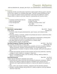 Best Apartment Leasing Agent Resumes ResumeHelp Fascinating Leasing Agent Resume