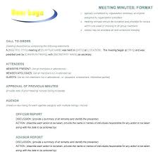 Minutes Of The Meeting Template Word Recording Minutes Of A Meeting Template