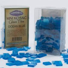 mandala art mini mosaic craft glass tiles 175pcs per case ocean blue aust brand