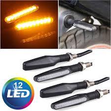 <b>4PCS Universal Motorcycle</b> 12 LED Turn Signal Indicators Blinker ...