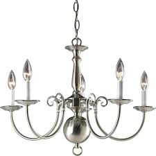 antique brushed nickel steel chandelier