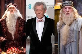 richard harris vs michael gambon. Composite Image Of Sir Richard Harris As Dumbledore Ian McKellen Himself And Photo Michael Gambon On Vs