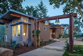 prefab home in napa ca sophisticated hardscape set off this custom prefabricated stillwater dwellings home