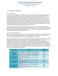 Chart Of Accounts Final Report 1 Executive Summary January