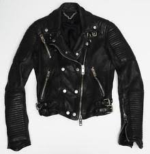 Burberry Women's Motorcycle Jacket | eBay & BURBERRY PRORSUM Womens Black Leather Quilted Moto Motorcycle Biker Jacket  36/2 Adamdwight.com