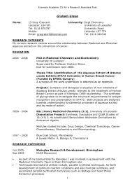 Brilliant Academic Resume Template Curriculum Vitae Word