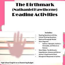the birthmark reading activities nathaniel hawthorne