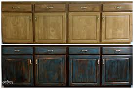 Distressed Kitchen Furniture Diy Cabinet Upgrade Sleek Antique