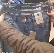 Fragile Jeans Size Chart Shopper Slams Primark Size 14 Jeans Over Sizing Disparity