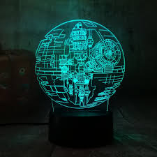 Star Wars Solar Lights Us 3 87 34 Off New Star Wars Death Star 3d Led Night Light 7 Color Sleep Table Lamp Luminaria Bedroom Decoration Holiday Kid Toy Christmas Gift In