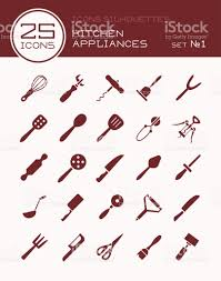 Kitchen Appliances On Credit Icons Silhouettes Kitchen Appliances Set 1 Stock Vector Art