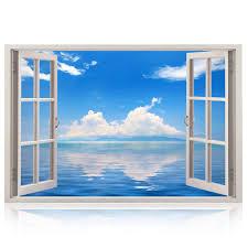 3d Wandbild Geöffnetes Fenster Großformatig Aus Hochwertigem Vinyl