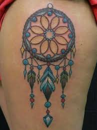 Dream Catcher Tattoo On Thigh 100 Best Dreamcatcher Tattoos 85