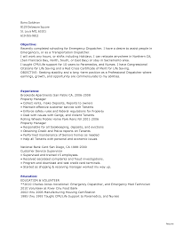 Sample Dispatcher Resume Dispatcher Resume Format 244 For 24a Objective Emergency Vesochieuxo 16