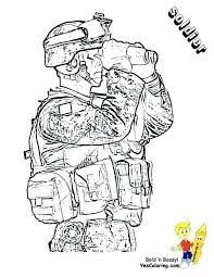 Military Coloring Pages Army Page