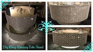 Plate Display Stands Michaels DIY DOLLAR TREE INSPIRED ROTATING DISPLAY CAKE STAND 71