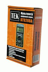 <b>Мультиметр TEK DT</b> 9208A — купить в интернет-магазине ...