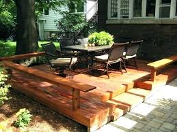 wood deck cost. Deck Vs Patio Cost Of Building A Bar Furniture . Wood