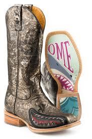 Tin Haul Womens Jawsome Cowboy Boot
