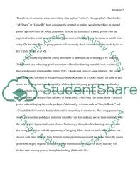 Dependence On Computers Essay Young Generation And Dependence On Technology Essay