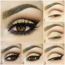 how to do golden party makeup eyemakeup eyemakeuptutorial
