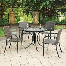 stone patio table. Cottage 5-Piece Marble Outdoor Dining Set Stone Patio Table O