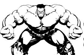 Kleurplaat Hulk 12