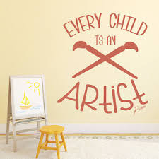 image is loading every child is an artist wall sticker school  on artistic wall decal with every child is an artist wall sticker school quote wall decal