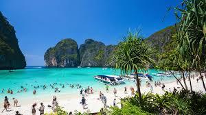 beach. Simple Beach The Popular Maya Bay On Phi Island Krabi Province Authorities Have  Ordered The And Beach