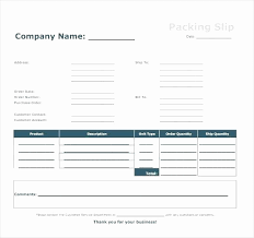 Packing List Template Excel New Free Blank Packing List Template