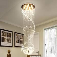 long pendant light staircase pendant lights modern revolving long crystal led pendant light dining room luxurious crystal hanging lamps modern in pendant