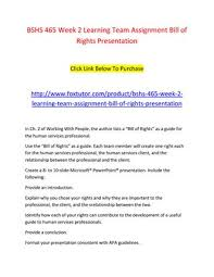 Bill Of Rights Powerpoint Bshs 465 Week 2 Learning Team Assignment Bill Of Rights Presentation