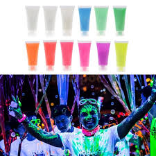 uv glow neon fluorescent face body fabric paint blacklight kids children s costume makeup party