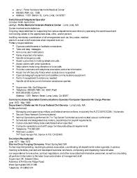 switchboard operator resume